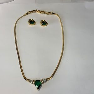 Signed Nina Ricci d'orlan necklace and earrings